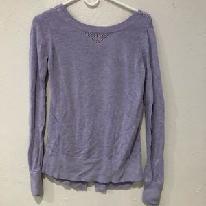 Lululemon Cross back sweater in lilac